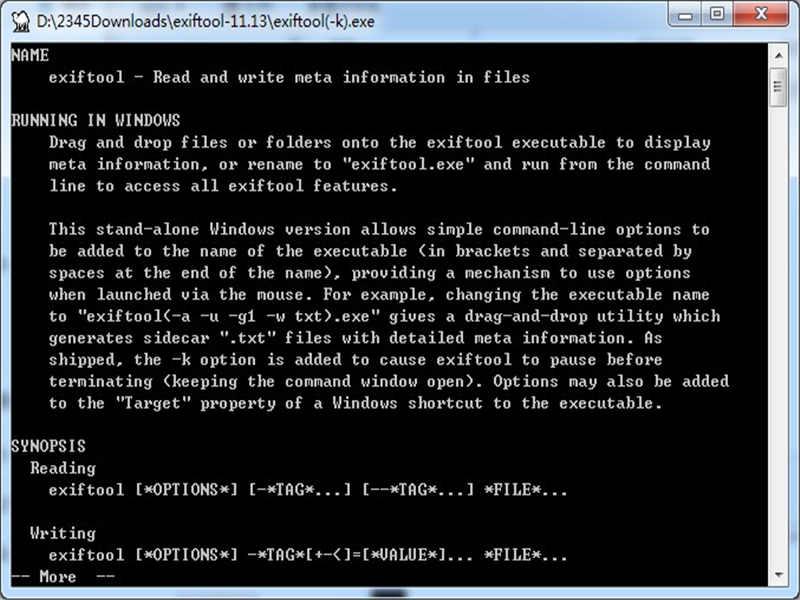 ExifTool(图片信息查看工具)下载