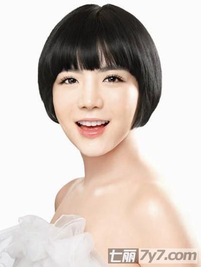 2011韩国短发新娘波波头造型图片