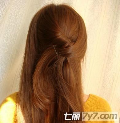 韩式长发发型扎法步骤教程