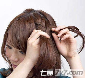 2012韩式短发发型 diy短发编发出游必备发型