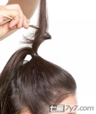 公主头发型扎法图解直发