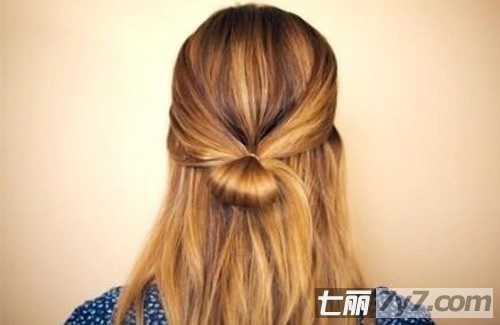 蝴蝶结发型扎法步骤图解