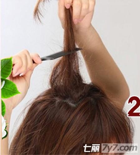 可是偶尔也要让自己改变一下下吧,下面跟着美发小编短发扎发步骤学