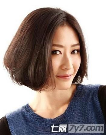 2013最新时尚瘦脸短发发型图片