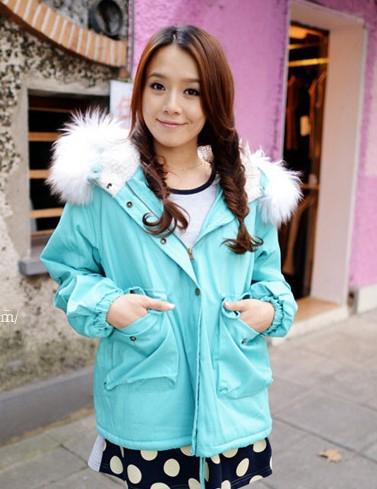 胖人冬装穿衣搭配 韩式棉衣外套温暖过冬