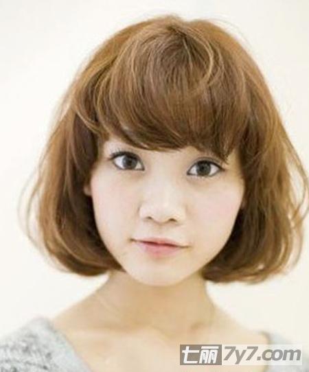 适合圆脸短发发型图片图片