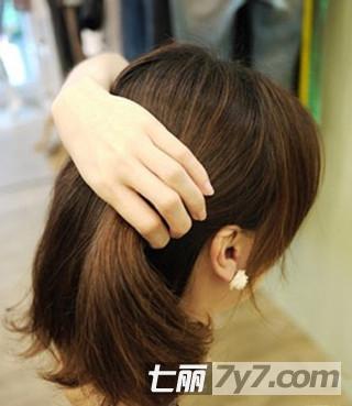 图解韩国人气名媛发型扎法步骤