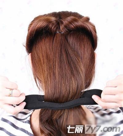 简易长发变短发扎法图解 气质发型随手拿捏