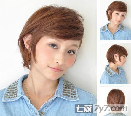 女生夏季喜欢的清爽短发 俏皮可爱清新显瘦-短发发型