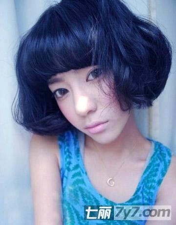 2014年韩式短发烫发发型