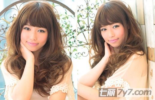 圆脸适合韩式长卷发发型