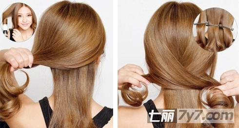 中分马尾辫的扎法 简单发型优雅端庄