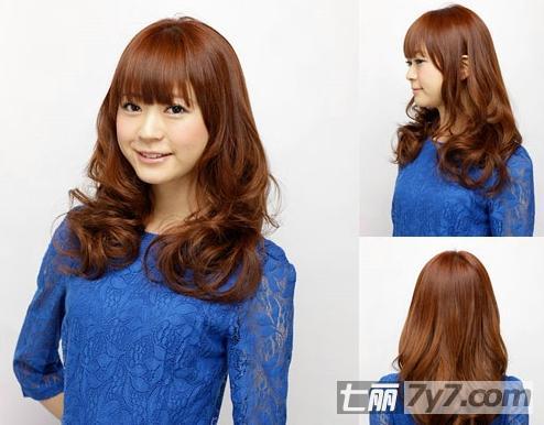 齐刘海发型适合什么脸型 推荐大卷发更适合长脸