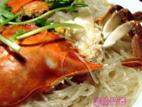 梭子蟹粉丝煲