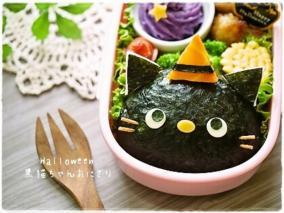 黑猫饭团便当