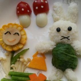 宝宝餐(采蘑菇的小兔子)