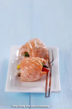 烤三文鱼卷