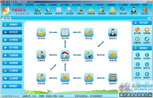 9星汽车租赁租车包车管理系统软件下载