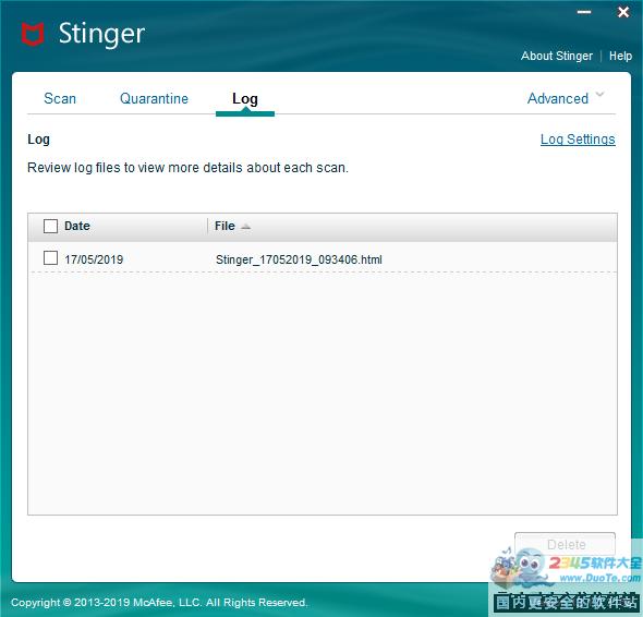 McAfee AVERT Stinger (迈克菲免费清毒工具)32位伟德国际娱乐