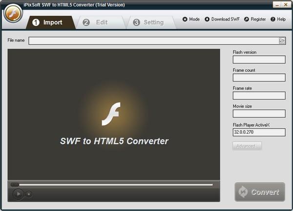 iPixSoft SWF to HTML5 Converter下载