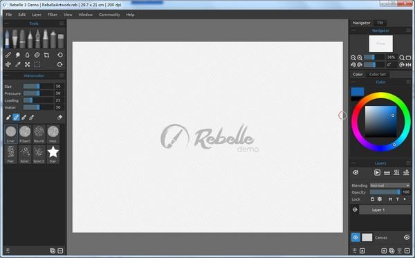 Rebelle(水彩画制作工具)下载